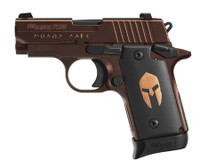 SIG P238 Spartan .380 ACP 2.7 Inch Barrel Siglite Night Sights Oil Rubbed Bronze Frame and Slide Finish Black Spartan Grips 6 Round