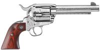 "TALO EXCLUSIVE RUKNV-455-TALO VAQUERO 45LC SS 5.5"" ENGRAVED 5157|DIAMOND WD GRIPS|RED CASE 45 Colt"