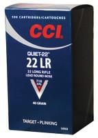 CCI Quiet-22 .22 Long Rifle 40 Grain Lead Round Nose Quiet-22