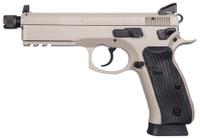 CZU CZ 75 SP-01 Suppressor Ready 9mm Luger 5.2 Inch Threaded Barrel High Tritium 3-Dot Sights Decocker Urban Grey Finish 18 Round