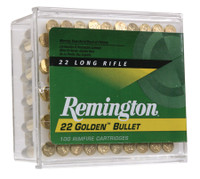 REM Golden .22 Long Rifle 40 Grain Plated Lead Round Nose 100 Per Box	 High Velocity with Golden Bullets
