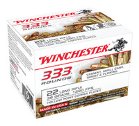WIN .22 Long Rifle Bulk Pack 36 Grain Copper Plated Hollow Point 333 rounds