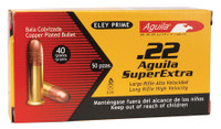 COI Aquila .22 Long Rifle 40 Grain High Velocity Solid Point	 High Velocity Rimfire Ammunition