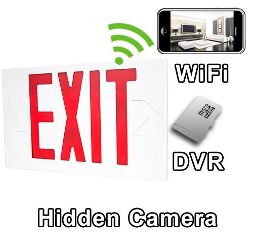WiFi Exit Sign Hidden Camera Spy Camera Nanny Cam