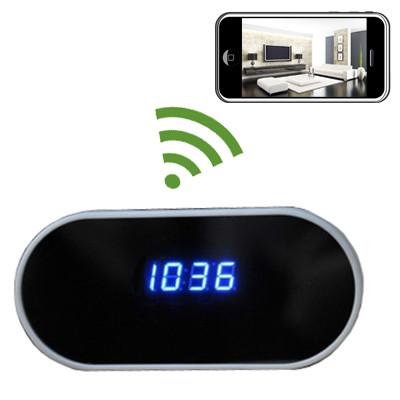 Alarm Clock Hidden Camera WiFi DVR with NO Pinhole 1920x1080