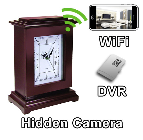 Buy Portable And Body Worn Hidden Cameras And Nanny Cams With - Clever magnetic wall clock charges phone wirelessly