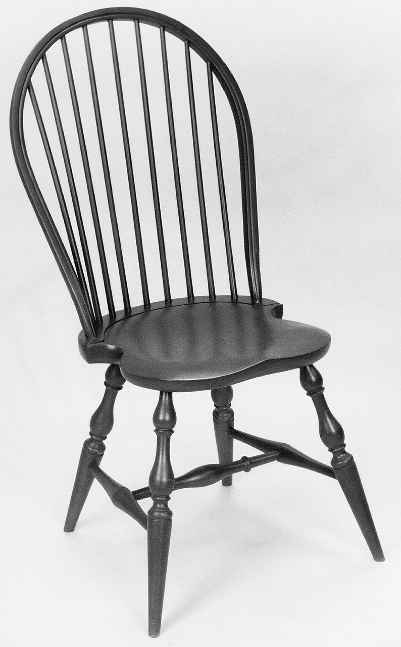 Many The Windsor Chair Was Traditionally Painted, Often In A Black Or  Forest Green. Many