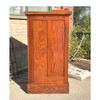 S17054 - Antique Arts and Crafts Pine Room Divider Column Set with Bookcases