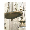 L17256 - Antique Two-Light Gas and Electric Ceiling Fixture