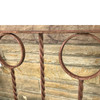 A17122 - Antique Colonial Revival Wrought Iron Fence Section
