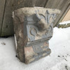 907609 - Salvaged Antique Carved Stone Keystone
