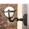 609021 - Antique Exterior Wall Sconce with Milk Glass Globe
