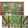 "D15126 - Single Antique Stained Glass Interior Door 38"" x 88"""