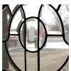 G16004 - Antique Arched Beveled Glass Window