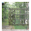 G16034 - Antique Late Victorian Beveled, Stained and Jeweled Glass Transom Window