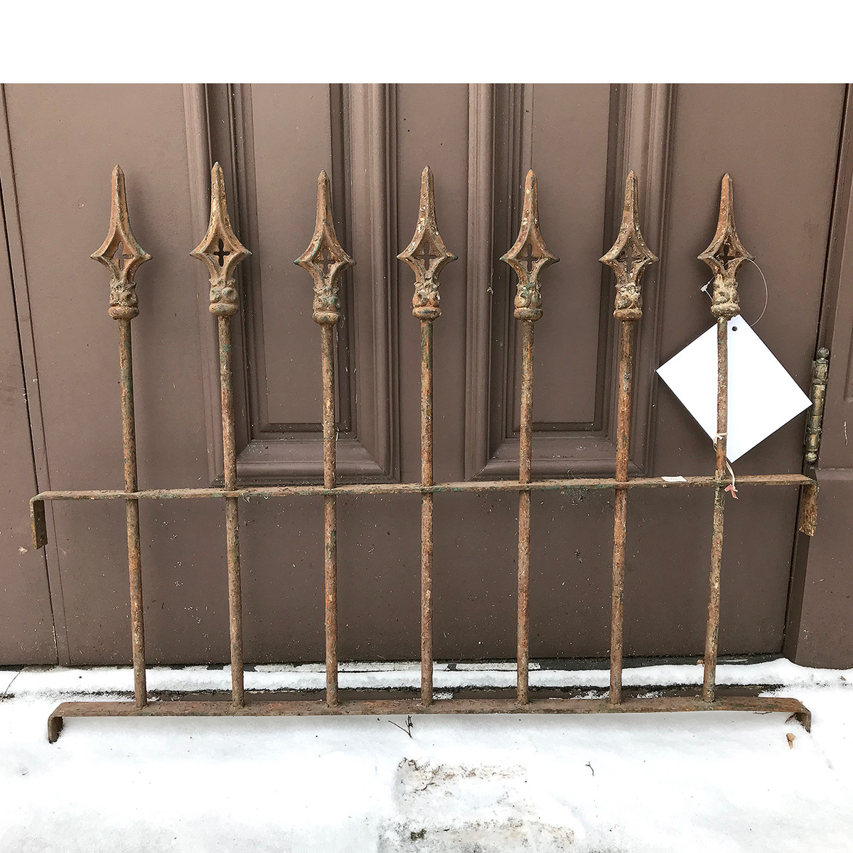 S17069 - Antique Cast Iron Window Grill