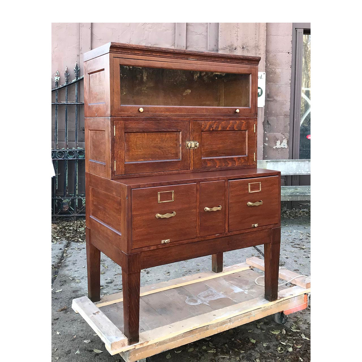 F17139 - Antique Multi-Section Library Cabinet