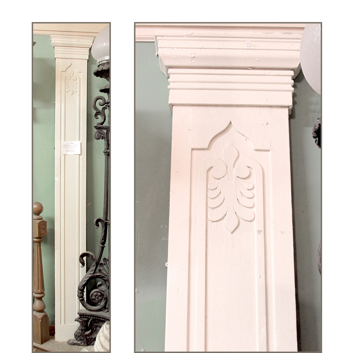 S14042 - Antique Early Victorian Painted Pine Casing