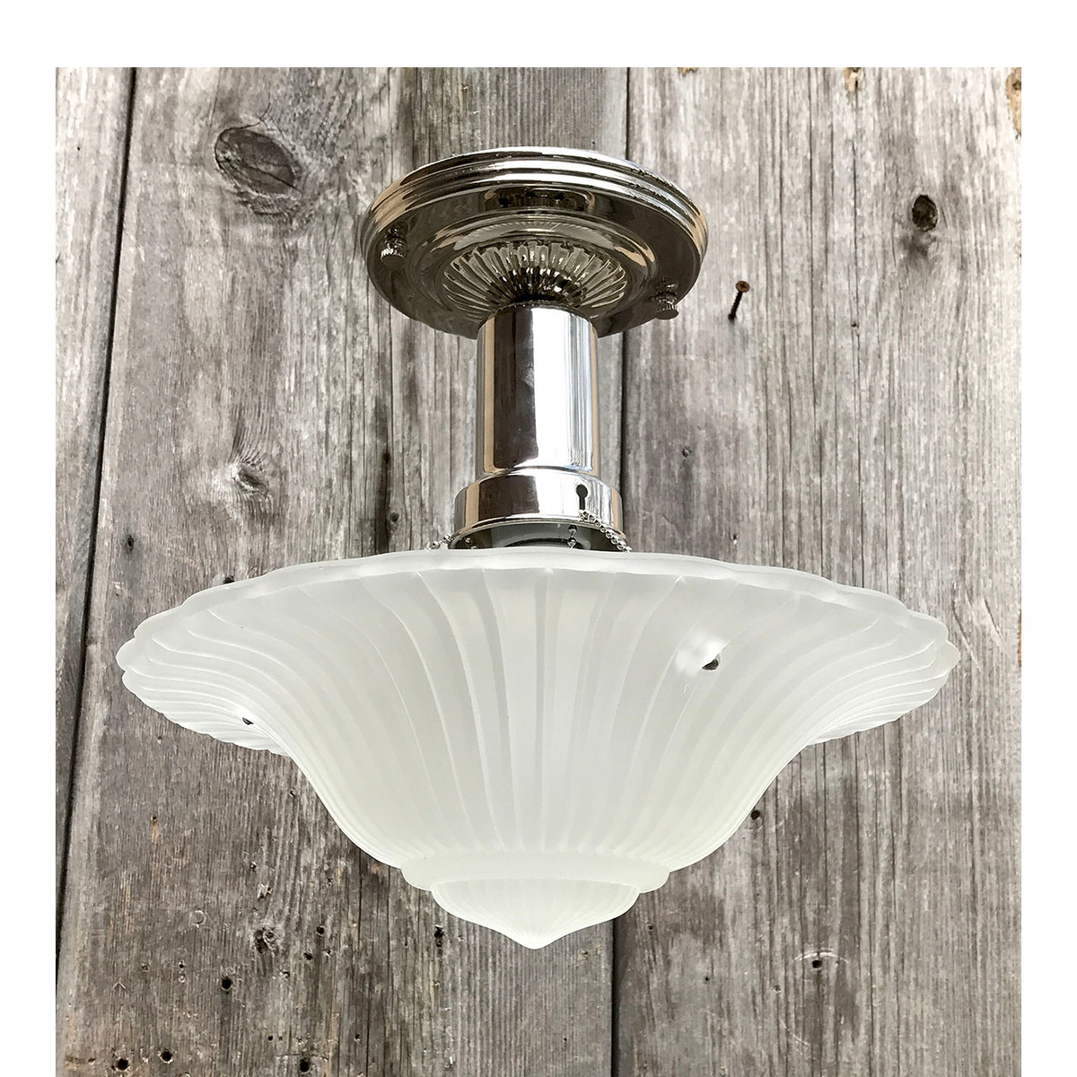 L17071 - Art Moderne Ceiling Light Fixture With Antique Bowl Shade