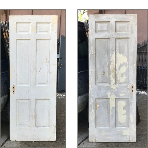 "D17144 - Single Antique Pine Six Panel Door 30"" x 80"""