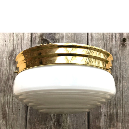 L17268 - Vintage Mid Century Flush Mount Light Fixture