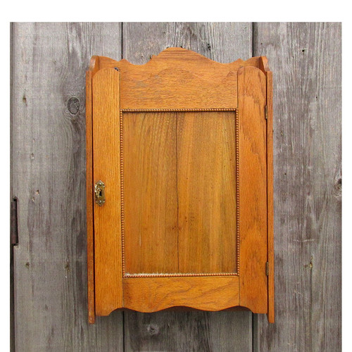A16009 - Antique Colonial Revival Oak Blind Medicine Cabinet