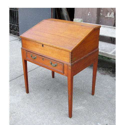 F16044 - Antique Federal Period Pine Drop Front Desk