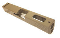 Glock 19 4th Gen Slide with top window, dovetail and serrations (Cerakoted FDE)