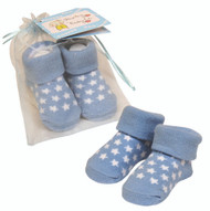 White Star Socks in Organza Bag Baby's First