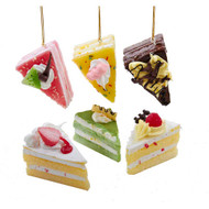 Kurt Adler Foam Slice of Cake Hanging Ornament (6 Designs)