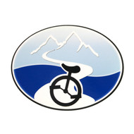 Unicycle Logo Sticker
