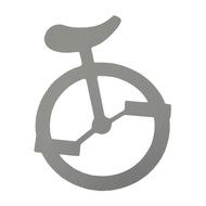 Unicycle Sticker - 4""