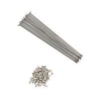 "Stainless Steel (silver) 14g Spokes for 36"" Unicycles - 367mm"