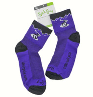 Unicycle.com Logo Socks Purple  -  Size: Large / X-Large