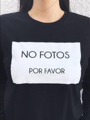 Unisex 'NO FOTOS POR FAVOR' Black Long Sleeve