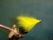 Rabbit Fur Steelhead Jig  Bright Yellow size 6  2ct