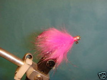 Rabbit Fur Steelhead Jig  Pink/black tip size 6  2ct
