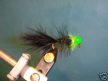 Egg Sucking Leech Steelhead Jig Blk/Chart Heavy  2ct 6
