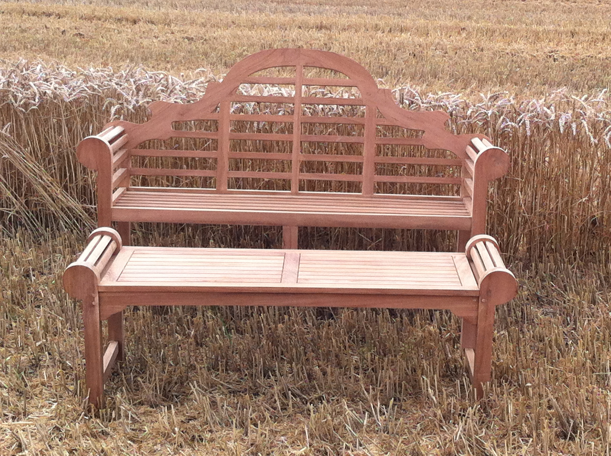 Teak Lutyens Bench And Matching Table From Cotswold Teak