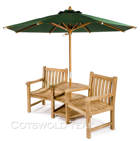 Ambleside 2 Seater Teak Companion Set Cotswold Teak Quality Garden Furniture
