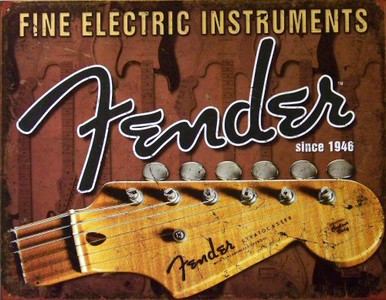 Photo of FENDER HEADSTOCK GREAT DETAIL, COLOR AND GRAPHICS