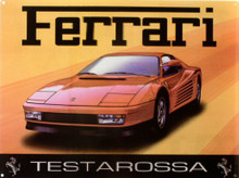 Photo of FERRARI TESTAROSSA ENAMEL SIGN HAS RICH COLORS AND GREAT GRAPHICS