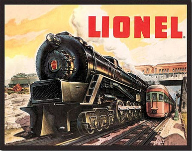 """LIONEL 5200 MODEL TRAIN TIN SIGN MEASURES 13"""" X 12 1/2"""" WITH HOLES FOR EASY MOUNTING"""