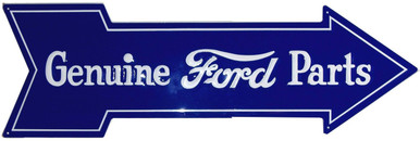 "FORD ARROW SHAPED SIGN ""GENUINE FORD PARTS, CRISP DETAILS, RICH COLOR"