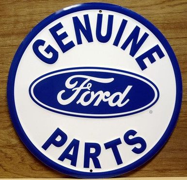 FORD GENUINE PARTS SIGN ROUND SHARP COLORS AND DETAIL
