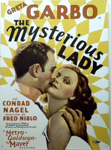 GARBO, MYSTEROUS LADY MOVIE SIGN