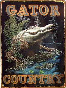 GATOR COUNTRY ENAMEL SIGN