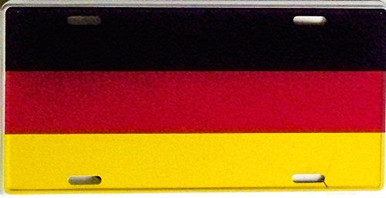 GERMAN LICENSE PLATE W/OUT EAGLE