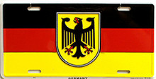 GERMANY LICENSE PLATE WITH EAGLE