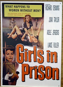 GIRLS IN PRISON MOVIE SIGN,  GOOD COLOR AND GRAPHICS